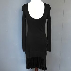 Victoria's Secret Black Cashmere Sweater Dress XS